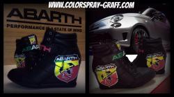Basket compensse shoes custom abarth 595 fiat 500 customise talon escarpins