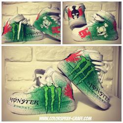 Basket nike air force one customise monster energy ken block by bam shoes custom