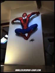 Graff spiderman spyderman superman batman graffiti chambre bam
