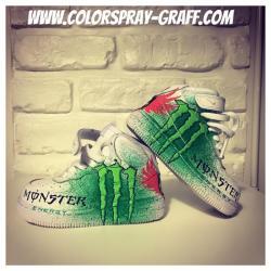 Nike air force one customise monster energy ken block lorenzo by bam shoes custom baby bebe 1