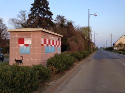 Poste erdf edf deco deco decoration graff graffiti fresque streetart street art bam