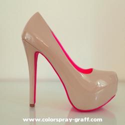 Shoes custom by bam customise personnalise talon escarpins basket barbie rose