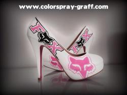 Talon fox alpinestars shoes custom customise personnalise escarpins basket sneakers bam graffeur