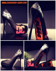 Talon shoes custom umbrella umbrellagirl ktm dc dcshoes fox talon personnalise escarpins