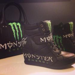 Talon shoes custom umbrella umbrellagirl ktm monster energy talon personnalise escarpins basket sac bag