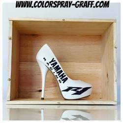Talon yamaha r1 racing r6 shoes custom escarpins personnalisee bam