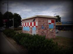 Tranfo transformateur mairie edf erdf graffiti fresque graffiti graff tageur